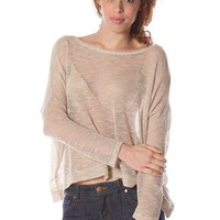 Knit Sweater Blouse - Taupe at Lucky 21 Lucky 21