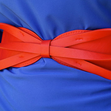 Large Bow Belt - Red