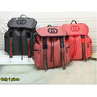 GUCCI fashion printed patchwork color-striped backpacks are hot sellers for both men and women
