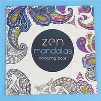 24 Pages Zen Mandalas Flower Adult Coloring Book
