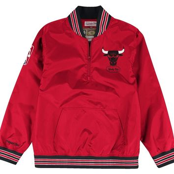 1/4 Zip Nylon Pullover Chicago Bulls Red
