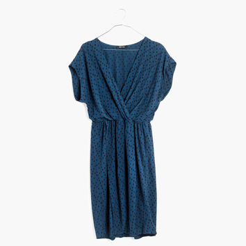 Wrap-Front Mini Dress in Brushstroke Diamond : shopmadewell casual dresses | Madewell