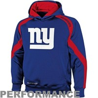 New York Giants Youth Gameday Performance Pullover Hoodie - Royal Blue
