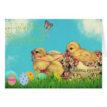 Joyful Easter and Happy Spring, card. Card
