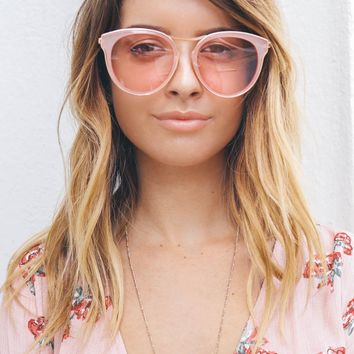 Light Pink Lens Cat Eye Sunglasses