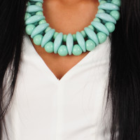 Head In The Clouds Necklace: Mint