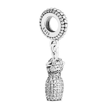 Fits for Pandora Charms Bracelets Dazzling Dress Beads 100% 925 Sterling-Silver-Jewelry Free Shipping