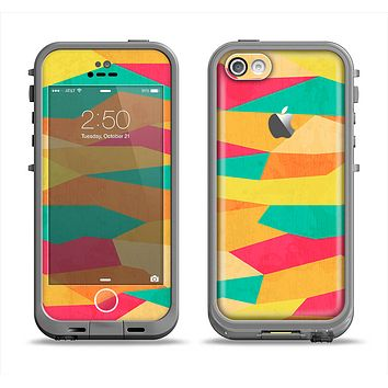 The Vibrant Bright Colored Connect Pattern Apple iPhone 5c LifeProof Fre Case Skin Set