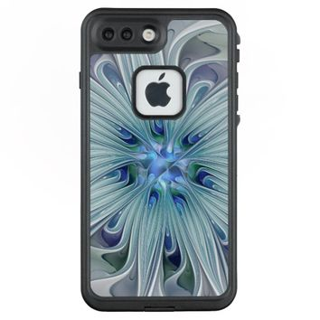 Floral Beauty Abstract Modern Blue Pastel Flower LifeProof® FRĒ® iPhone 7 Plus Case