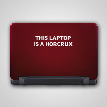 $7.95 This Laptop is a Horcrux  Harry Potter Inspired  Vinyl by DecalLab