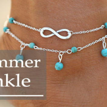 Double Infinity Anklet Foot Chain Summer Bracelet