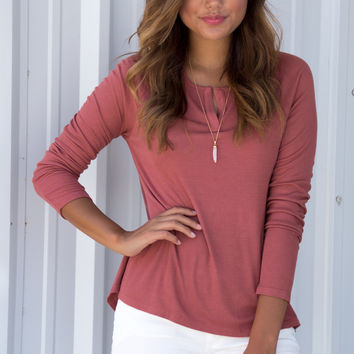 Ginger Lounge Ribbed Long Sleeve Top