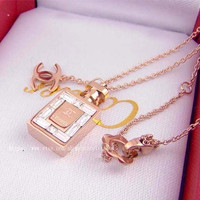 Free shipping/high quality chanel perfume bottles necklace, Christmas gifts, and sisters gifts