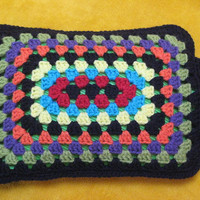 Crochet Pattern Rectangular Granny Square Hot Water Bottle Cover PDF