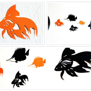 Fish Wall decor for Halloween Party, Fish wall art for Halloween Decorations, Fish Decorations, Wall art for kids room, Fish Wall decals