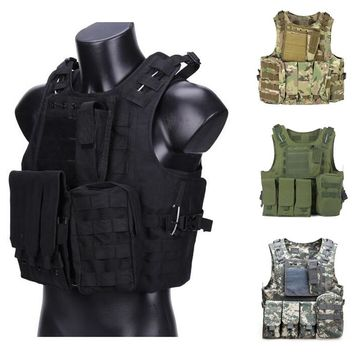 Tactical Vest Airsoft Gear Military Amphibious Camouflage Combat Vest Outdoor Hunting Army Shooting CS Protection Vests