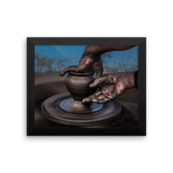 Pottery Art Framed photo paper poster