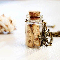 Treasure Map Bottle necklace  For traveler by VisitingCINDERELLA