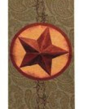 Manual Woodworkers Western Star Tapestry Table Runner w/ Tassels + Gift