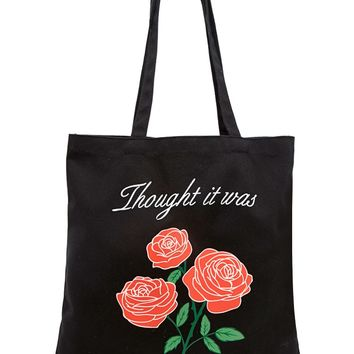 Roses Graphic Tote Bag