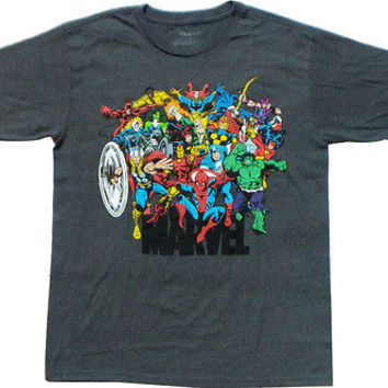 The Disney Store Men's Marvel Universe T-Shirt Tee Top