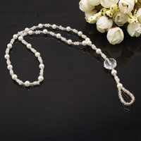 New Arrival Ladies Gift Sexy Jewelry Cute Shiny Stylish Mirror Crystal Gemstone Pearls Handcrafts Stretch Anklet [7241005383]