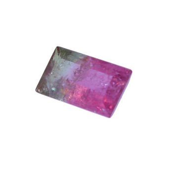 1.88 Carat Rectangle Cut Watermelon Tourmaline - Loose Gemstones Crystals For Jewelry Making & Crafts