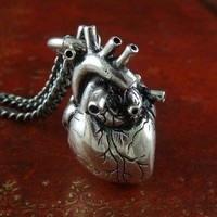 Anatomical Heart Necklace on the redditgifts Marketplace