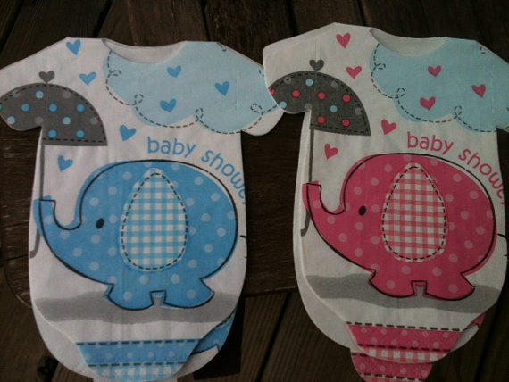 blue or pink elephants 30 baby shower from wrapsidazy on etsy