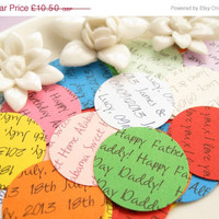 ON SALE 100 Personalised Circle Confetti - 12 Colours to Choose - Wedding, Wedding Decor, Table Decor, Favors