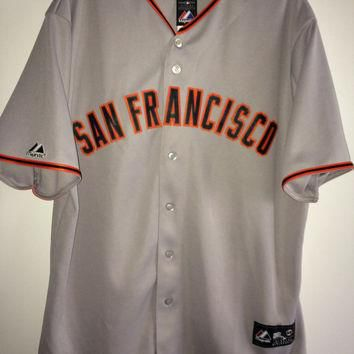 Sale!! Vintage majestic sf San Francisco Giants MLB jersey baseball shirt size Large m