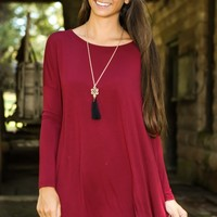 PIKO: Just About Anywhere Tunic-Crimson