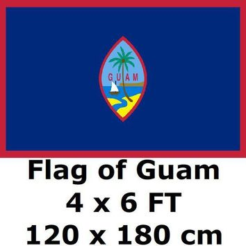 Guam Flag 4X6FT 100D Polyester Guamanian US USA American United States Flags and Banners For Home Decoration