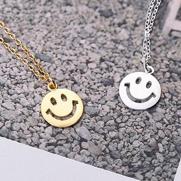 womens casual simple style Smiling face necklace gift 54