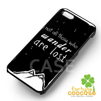 Wander lost mountain quote -edd for iPhone 6S case, iPhone 5s case, iPhone 6 case, iPhone 4S, Samsung S6 Edge