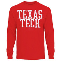 Texas Tech Red Raiders Straight Out Long Sleeve T-Shirt – Scarlet
