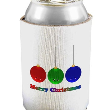 Merry Christmas Cute Christmas Ornaments Can and Bottle Insulator Cooler