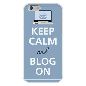 Apple iPhone 6 Custom Case White Plastic Snap On - Keep Calm and Blog On Laptop Notebook Computer