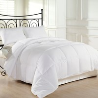 Alyssa HomeTM White Goose Down Alternative Comforter - Twin/Queen/King, White (Full/Queen)