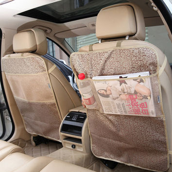 1PC New Car Seat Back Protector Cover Backseat For Children Kick Mat Protects From Mud Dirt Waterproof Car Seat Accessories