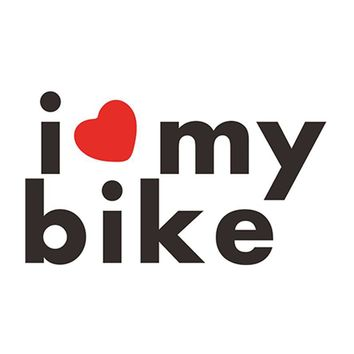 6.3*3.6cm 2pcs I LOVE MY BIKE Words Decal Funny Vinyl Car Sticker for Car Body Window Motorcycle Helmet Stickers Black/Silver