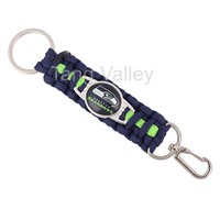 Seattle Seahawks Paracord Keychain Drop Shipping! KY0001