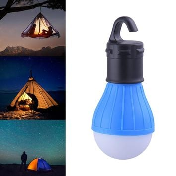 Portable outdoor Hanging 3-LED Camping Lantern Soft Light LED Camp night Lights Bulb Lamp For Room Camping Tent Fishing 4 Colors