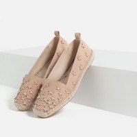 LEATHER ESPADRILLES WITH STARS - View all-SHOES-WOMAN | ZARA United Kingdom