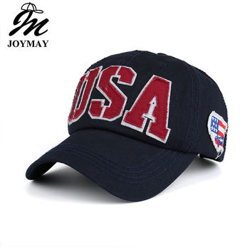 Joymay 2017 Spring New Unisex USA Embroidery Baseball cap Adjustable Fashion Leisure Casual Snapback HAT B419