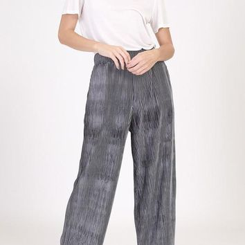 Accordian Crushed Velvet Pants