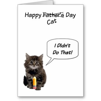 Cute Kitten Father's Day Note Cards