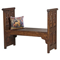 Park Avenue Collection Gothic Filigree Bench
