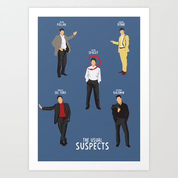 The Usual Suspects - Alternative Movie Poster Art Print by Stefanoreves