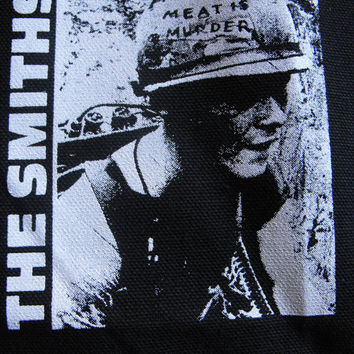 THE SMITHS meat is murder patch goth gothic punk Free Shipping